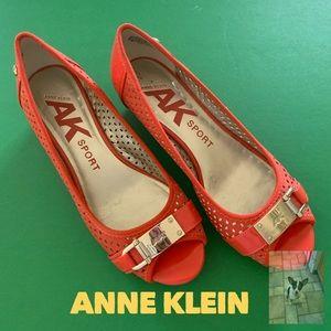 Anne Klein Sport open toe flats 6.5